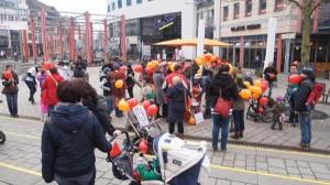 Demo Elternprotest Vorbereitungen